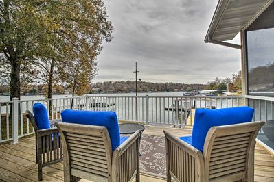 This lakefront location of this Gravois Mills property is unbeatable.