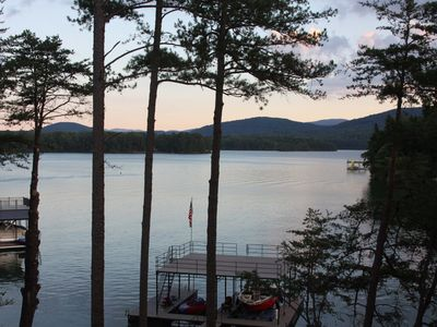 Photo for Rustic Elegance On Lake Blue Ridge With Spectacular Views