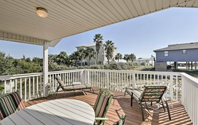 Sparkling Gulf View From A Partially Covered Deck
