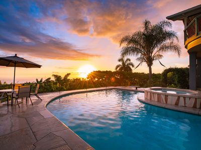 Spectacular !!  Private Pool & Hot Tub - 180 degree Ocean View; U pick Orchard