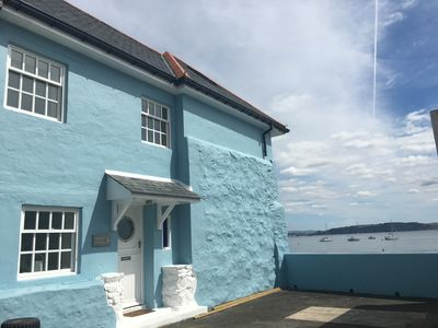 Photo for Luxury Cornish beach cottage - stunning sea views - the perfect getaway