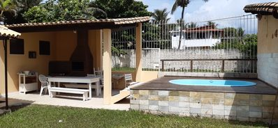 Photo for Beach house with pool, barbecue 300 m from the beach