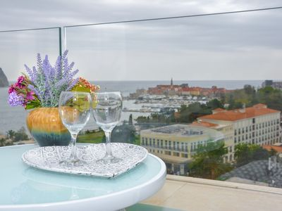Photo for Luxury private apartments in hotel building with beautiful sea view and Old town