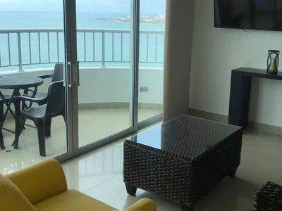 Photo for Spacious sea front apartment for up to 7 people