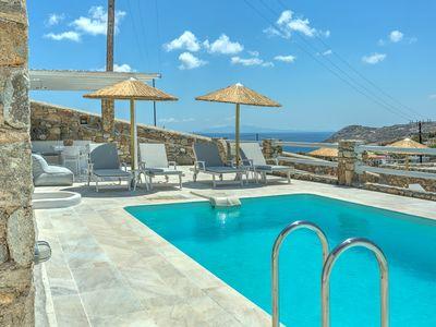 Photo for Villa Plaisir Mykonos, 4 Bedrooms Private Pool, Up to 10 Guests The villa creates an ideal environment to host guests of high expectations
