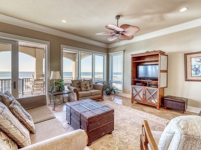 Photo for Luxurious Gulf-front home w/ direct beach access, close to shops & dining!
