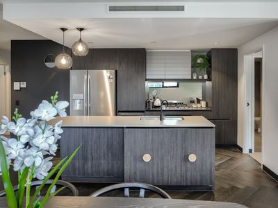 Photo for Designer 2 bedroom, 2 bathroom apartment with car park