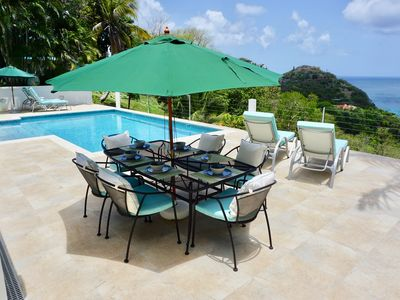 Photo for Luxury Villa with private pool and one of the best sea views in the Caribbean