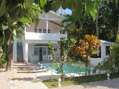 Photo for Charming Dominican villa / 80M beach / Second floor apartment / pool /Free Wifi