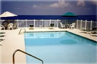 Sizable Oceanside Pool with Great Views; also see Sunset from Area to the Right