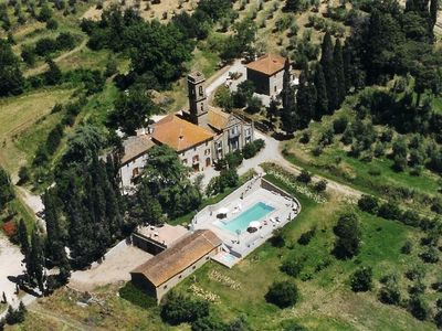 Photo for 8 bedroom Villa, sleeps 18 with Pool, Air Con, FREE WiFi and Walk to Shops