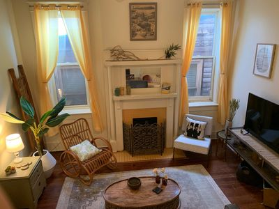 Photo for 2nd Floor Downtown Courtyard Apartment with Boho Charm and Photographic Moments
