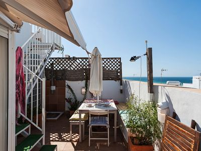 Photo for With Roof Terrace and Beach View - Apartment Patio Duplex-Atico