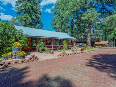 Photo for Rare 3 BR Log Cabin Treasure / Central to Flagstaff & Grand Canyon