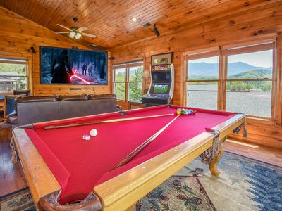 Photo for Free Tickets | Pool Access, Game Room, Hot Tub, Swing, View, Fireplace