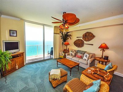 Photo for Gorgeous coastal condo! Fitness center + Roman spa on-site! Free beach service!