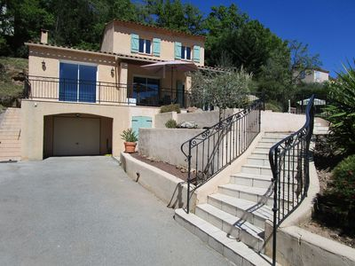 Photo for SPRING PROMOTION. South facing and fenced villa 15 km Côte d'Azur. 6 adults + be