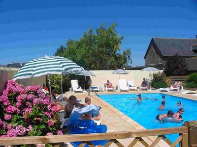 Photo for 3 to 5 persons cottage with bay of Mont St Michel pool 300m from the sea
