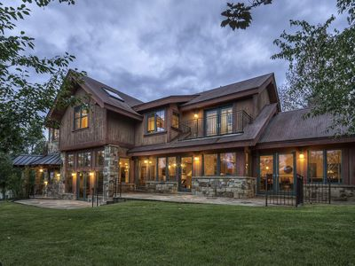 Photo for Stunning Family Retreat with Hot Tub, Basketball, Tennis: Shaqteau Telluride