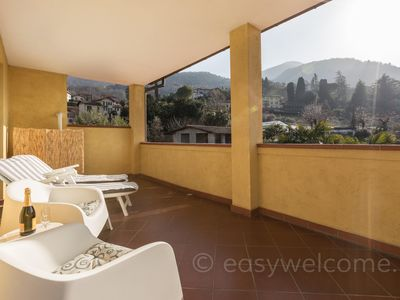 Photo for Spacious Artemisia - San Giovanni apartment in Bellagio with WiFi, private parking & private roof t…