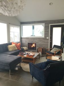 Living room - wood fire place