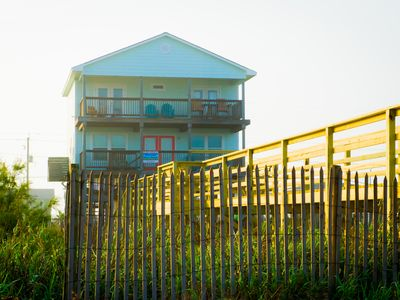Photo for Beach Front - 4 decks watch the sunrise over the ocean & the sunset over the bay