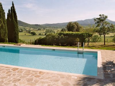 Photo for Tuscan dream in a hilly location near the sea