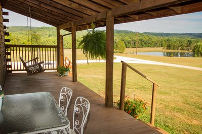 Enjoy panoramic views from the expansive front porch