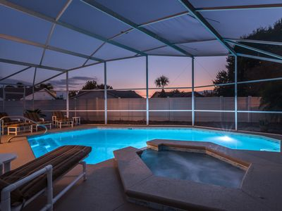 Photo for Privacy & Location! Disney Villa, Large Private Pool, Spa, Game Room & Free wifi