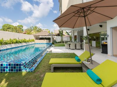 Photo for Beachside villa Mojito 3 BR (Very Kids Friendly)