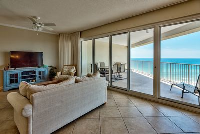 Gorgeous Gulf views from the living room area