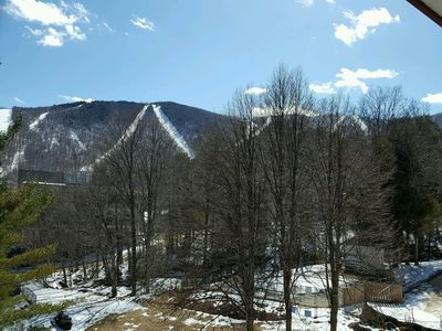 Photo for NEW Ski-on/off Mountainside Top floor, vaulted ceilings, spectacular slope views