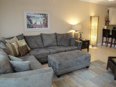 Photo for 2 bedroom 2 1/2 bath town-home across from the Beach!
