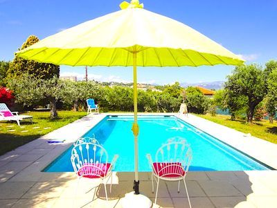 Photo for NICE-MAGNIFICENT VILLA CLIMATE FOR 6 PEOPLE- NEAR SEA- SWIMMING POOL- GARDEN