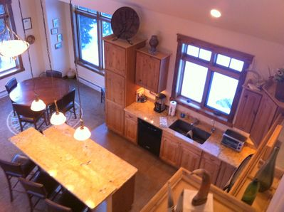 Kitchen and Dining from Loft Area