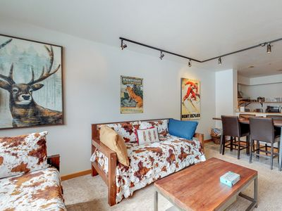Photo for Waterfront condo w/ shared indoor pool, hot tub, & dry sauna - bus to the slopes