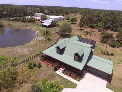 Photo for Fancy Log House on 43 Acres Ranch Close to PGA and Mets
