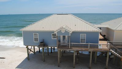 Photo for Beach Music - Beautiful 4 bedroom, 2 bath, gulf front duplex on Dauphin Island