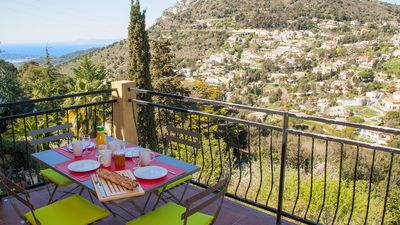 Photo for Villa Fiorini - Apartment with superb view, near Monaco, Menton, Nice, beach 8km