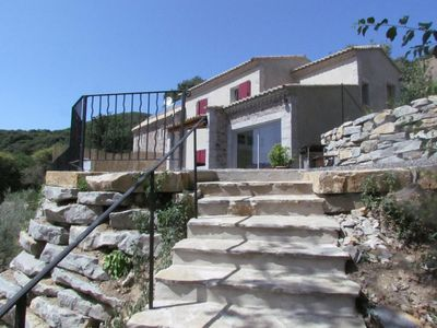 Photo for Panoramic house in the Cevennes, spa, sauna, fitness we, Cros Gard