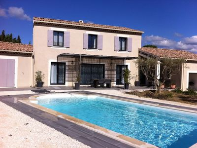Photo for Air-conditioned house, private pool and view of Mont Ventoux - from 2 to 8 people