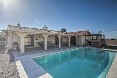 Fall in love with the oasis of Lake Havasu City from this vacation rental house.