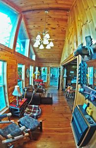 Photo for Cabin on the rocks!  120ft on theToccoa River peace and beauty- 1bedroom 1bath S