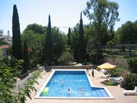 The apartment was really nice, situated in a lovely building with a lovely pool.