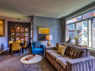 Photo for Luxurious downtown suite, walk to Space Needle, shared hot tub and pool!