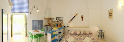 Photo for Lodge Scirocco for 2 p with kitchen, in Masseria with shared pool in Salento