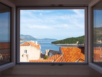 Photo for Apartment Lobrovic: Best panaromic sea view, in centre of Old City of Dubrovnik
