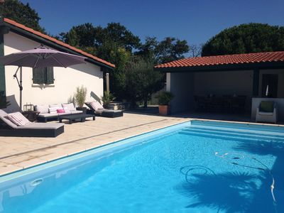 Photo for Biarritz: Beautiful fully-furnished villa with garden and heated swimming pool