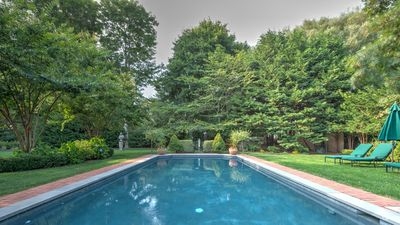 Photo for NEW LISTING: Half mile from the Atlantic Ocean and near the center of the village, classic Hamptons charm with bright contemporary accents & amenities!