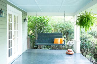 Great Porch swing for hanging out.